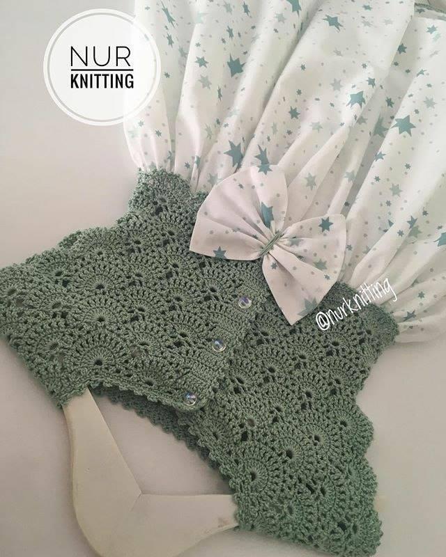 vestido niña crochet