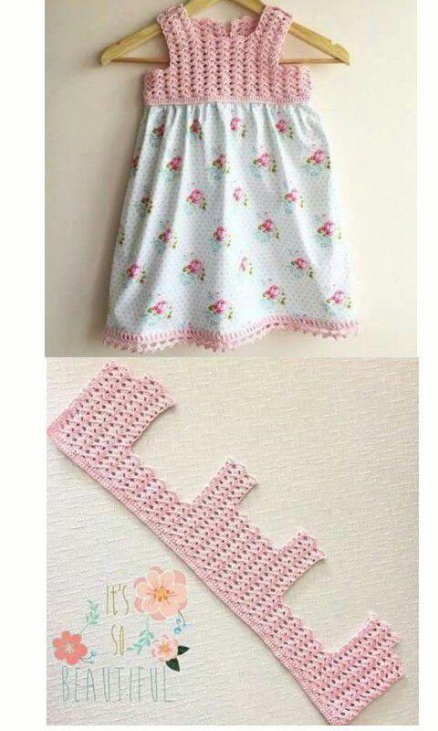Vestidos con canesú de crochet y falda de tela