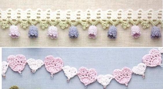 Puntillas, bordes y cenefas para tus labores en crochet