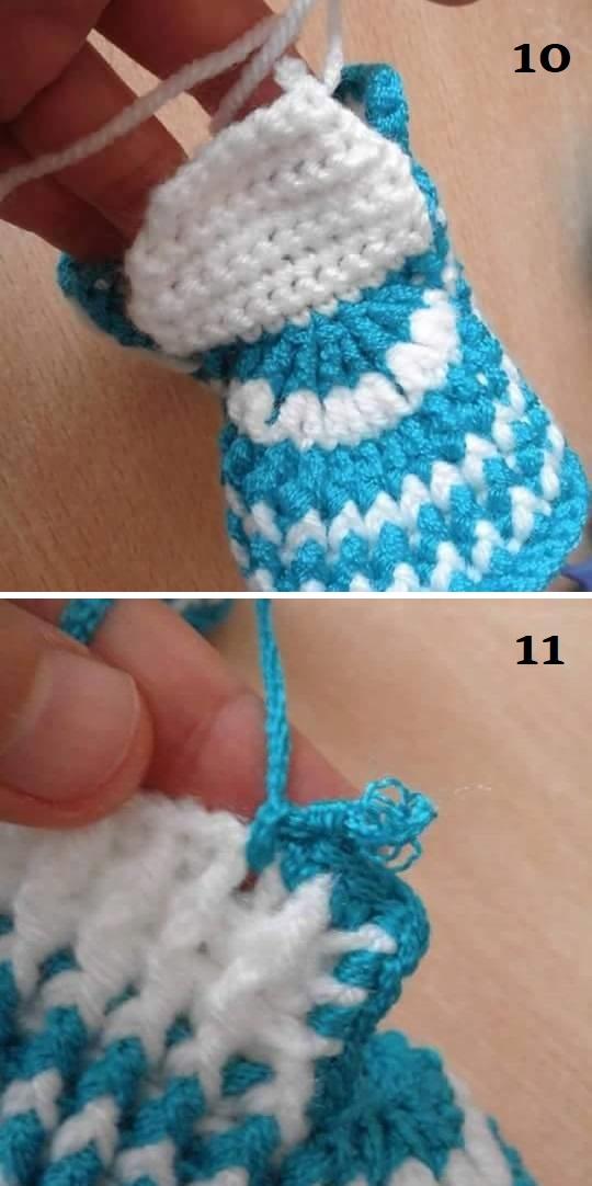 patrón botas bebe crochet