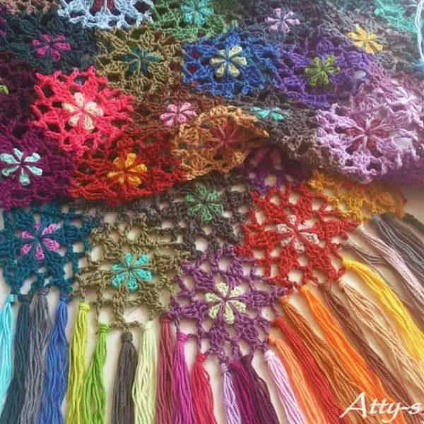 tutorial bufanda crochet