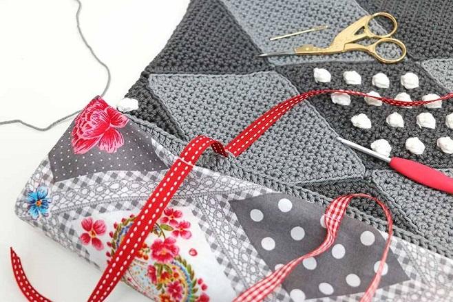 cojín crochet patrón