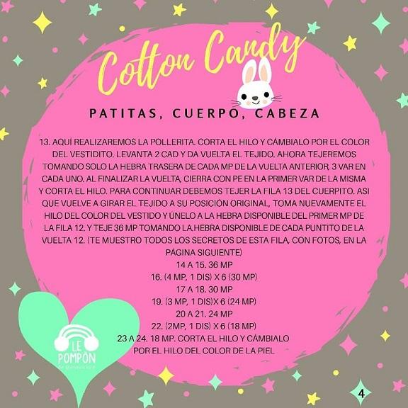 Conejita Kawaii patrón GRATUITO en castellano