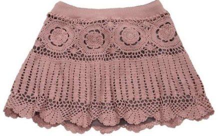 patrón falda crochet