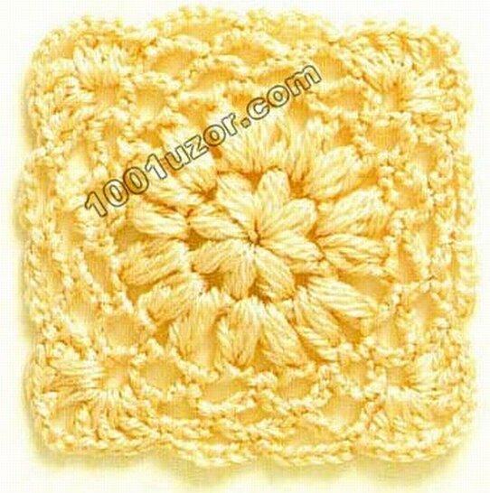 gráficos cuadrados crochet