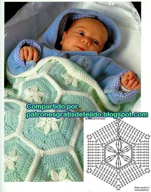 patron mantita baby ganchillo