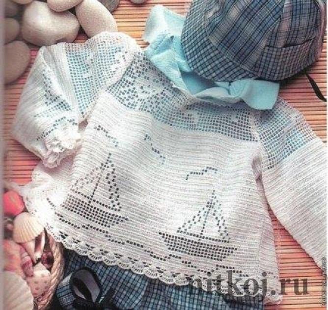 """Un jersey de verano """"muy marinero"""" para tu bebé"""