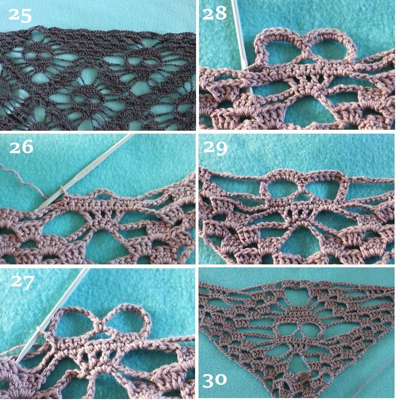 fular crochet patrón