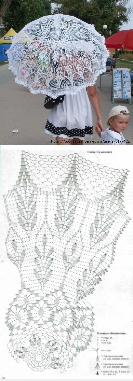 10 Sombrillas coquetas y románticas con diagramas