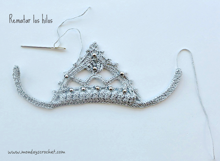 tutorial tiara crochet