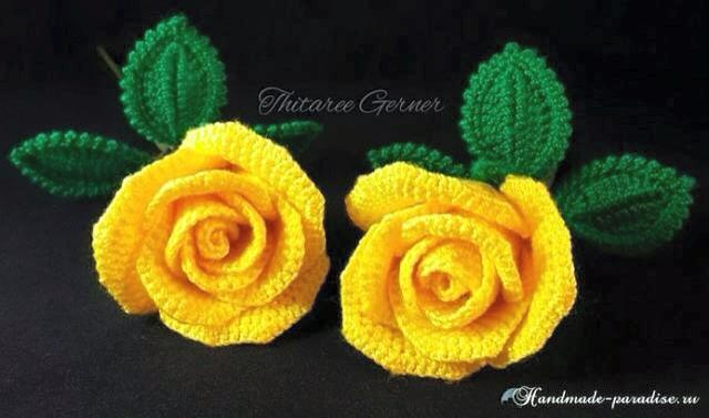 Aprendiendo a hacer hermosas Rosas en crochet