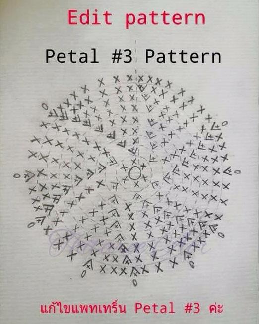 patrón rosa crochet