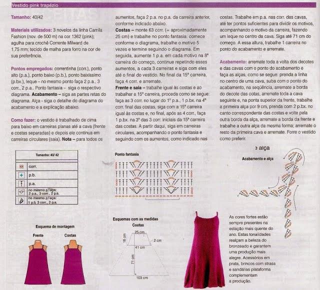 patrón vestido ganchillo